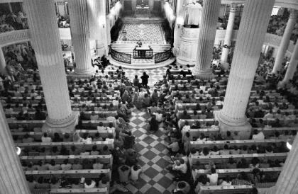 DDR - Friedensgebet in Nikolaikirche